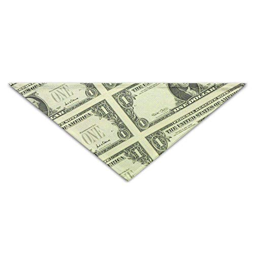 Gxdchfj Dollar Bills of United States Federal Reserve with The Portrait Pet Dog Cat Puppy Bandana Triangle Head Scarfs Accessories - Federal Triangle