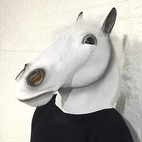 YKQ WS Tier Latex Maske Pferd Kopfschmuck