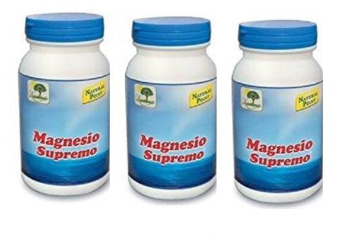natural point - magnesio supremo 3 confezioni da 150 gr antistress naturale, stanchezza cronica, mal di testa, sistema nervoso - [kit con saponetta naturale quizen in omaggio]