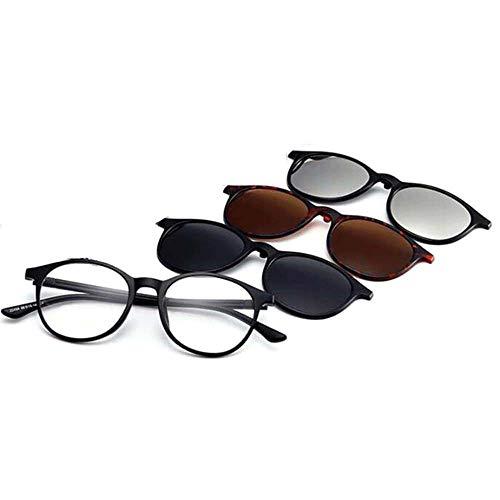 GEMSeven 1 Stück Lesebrille + 3-pack Magnetische Clips Polarisierte Sonnenbrille Frauen Männer Presbyopic Optische Brillen Mehrzweck - Frühjahr Lesebrille
