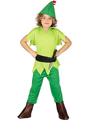 Kleinkind Jungen Peter Pan Kostüm - Guirca Bogenschütze Kostüm für Jungen Gr.