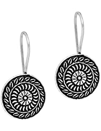 Jaipur Mart Handmade Rajasthani Oxidised Silver Dangle & Drop Earrings Jewellery For Women And Girls