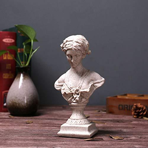 LOVEU Diosa del Amor Y La Belleza Venus, Griega Roman Style Mujer Estatua Retro Clásico Busto Estatua Figura Decoración De La Oficina del Hogar Mejor Regalo-Venus 12x7.5x22cm(5x3x9inch)