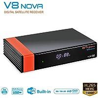 GT MEDIA V8 Nova DVB-S2 Decodificador Satélite Receptor de TV Digital con Wi-