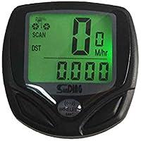 JohnJohnsen Shundong Sd-548c Wireless Luminous Bicycle Code Meter Odometer Speedometer(black)