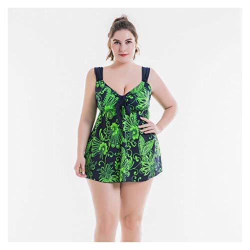 Badeanzüge LQ Damen Kleid Abdeckung Bauch Kontrolle Rückenfrei Fett Weibliche Große Split Rock Typ Extra Große Länge Lange Bauch Bedeckt Schlanker (Size : 58)