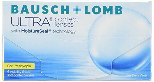 Bausch + Lomb Ultra for Presbyopia Contact lenses with Moistureseal Technology Gleitsicht Monatslinsen weich, 6 Stück / BC 8.5 mm / DIA 14.2 mm / ADD LOW / -8 Dioptrien