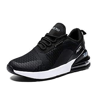 Herren Laufschuhe Gym Sportschuhe Straßenlaufschuhe Outdoor Trainers Atmungsaktiv Turnschuhe Joggen Schuhe Freizeit Sneaker(270-Schwarz/Weiß, 41EU)