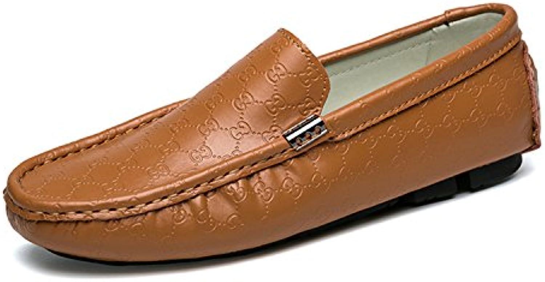 Esthesis Hombre Zapatos Casuales Mocasines de Cuero Genuino Mocasines Slip On Boat Zapatos