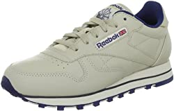 Reebok Womens Classic Leather Training Running Shoes Beige (Ecru/Navy) 6.5 UK