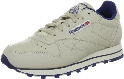 Reebok Classic Leather, Damen Sneakers, Beige (Ecru/NAV), 39 EU (6 Damen UK) (Schuhe Leder Beige)