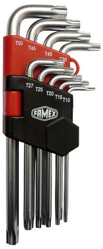 Famex 10788 Jeu de clés Torx coudées 9 pièces T10-T50 (Import Allemagne)