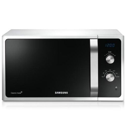 Samsung MS23F301EAW dessus 23L 800W Blanc–Micro-onde (dessus, 23L, 800W, boutons, rotatif, blanc, gauche)