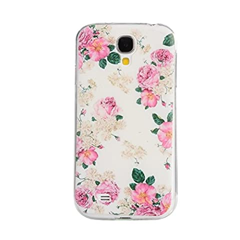 Pour Samsung Galaxy S4(GT-i9500/i9505) Coque,Ecoway Housse étui en TPU Silicone Shell Housse Coque étui Case Cover Cuir Etui Housse de Protection Coque Étui Samsung Galaxy S4(GT-i9500/i9505)