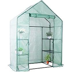 YOUKE Serre de Jardin PE Plastique Tente abri - diverses modèles - (143 x 73 x 195 CM)
