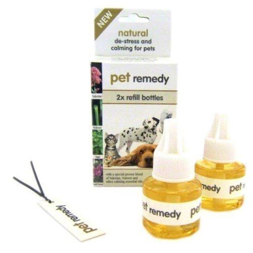 2x PET Remedy Diffusor ist eine natürliche 12. und beruhigend Plug-in Refills nur für. Effektive Linderung für Hund Stress, Katzen Stress und anderen Stress (Refills 2x 40ml))