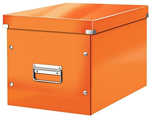 Leitz große Aufbewahrungs- und Transportbox, Würfelform, Click & Store, Orange, 61080044