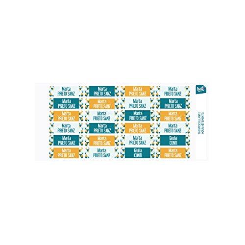 Ludilabel - Lote 24 etiquetas termoadhesivas ropa