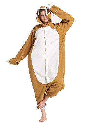 sene Tier Jumpsuits Onesie Pyjama Nachthemd Nachtwäsche Cosplay Overall Kapuzenkostüm ,Faultier S- Höhe 158-168cm (Faultier Kostüm)