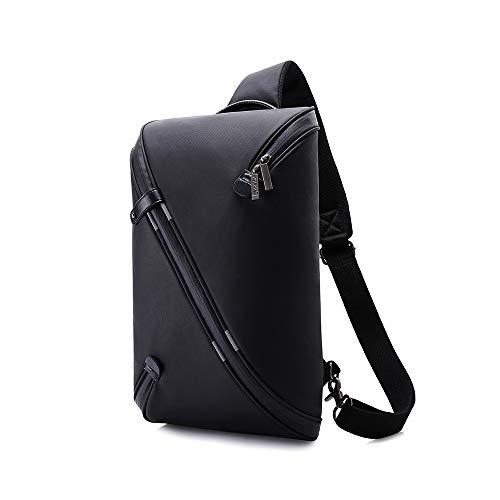 LYFEI Die Neue Multi-Layer-Speicher-Kasten-Beutel-Mann-Tasche wasserdichte im Freien REIT Einbrecher Brust Brust Bag Messenger Bag Herrentaschen Schulter (Farbe : Black, Größe : M) -