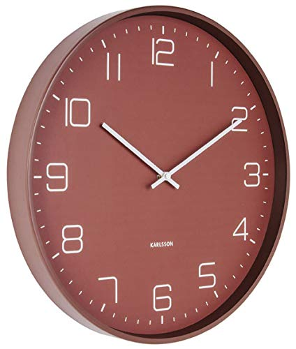 Karlsson Wandklok Mr White Numbers.Wandklok Lofty Warm Rood Karlsson Clocks