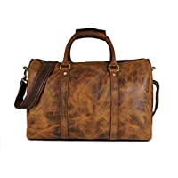 Leather Travel Duffle Bag | Gym Sports Bag Airplane Luggage Carry-On Bag By Delphi Leather