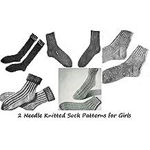 Calcetín patrones de punto de aguja 2 para niñas