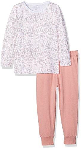 NAME IT Baby-Mädchen Zweiteiliger Schlafanzug NMFNIGHTSET Bright White NOOS Mehrfarbig, 104