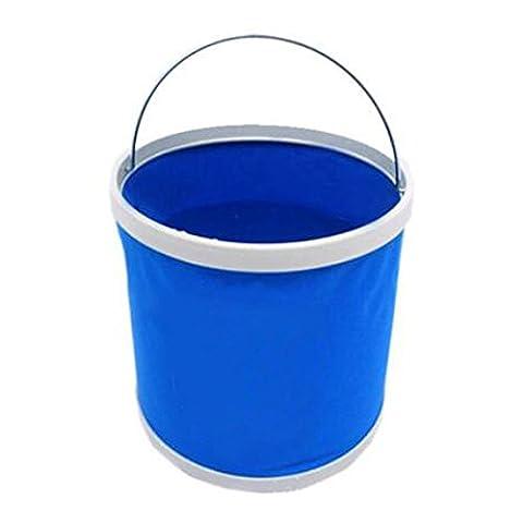 REXSONN® faltbares Spülbecken becken Waschbecken Spülbecken Faltschüssel Faltbar Eimer Collaps Falteimer Outdoor-Camping Wasser-Bassin Ultraleichtwasserdichte Tasche Folding Bucket Barrel 9L - Blau