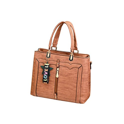 YOUBan Damen Handtasche Schultertasche Umhängetasche Stern Ledertasche Fashion Solide Handtasche Rucksäcke