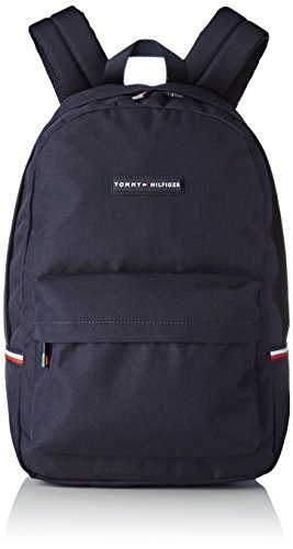 Tommy Hilfiger Herren Tommy Backpack Schultertasche, Blau (Tommy Navy), 16x30x46 cm