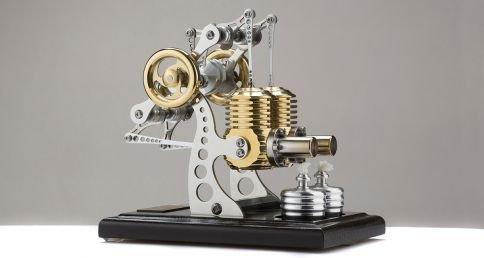 Böhm Stirling Technik Heißluft/Stirling Modell Wissenschaftliches Spielzeug HB14-B, Fertigmodell, Schwarz