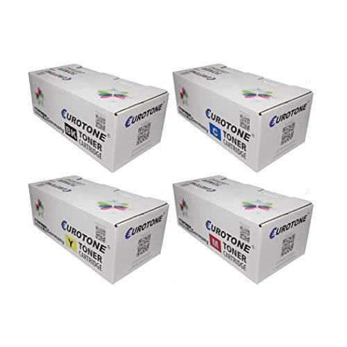 4X Eurotone Toner für Oki MC 853 873 wie Set Schwarz Blau Rot Gelb Patronen Cartridges -