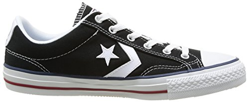 Converse Star Player Adulte Core Canvas Ox, Baskets mode mixte adulte Noir (Noir/Blanc)