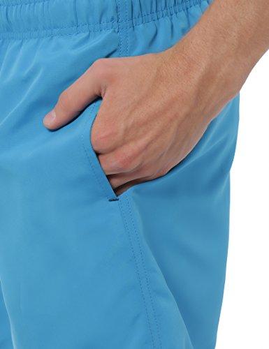 Lower East Herren Badeshorts mit seitlichen Eingrifftaschen & elastischem Bund Blau (Havai)