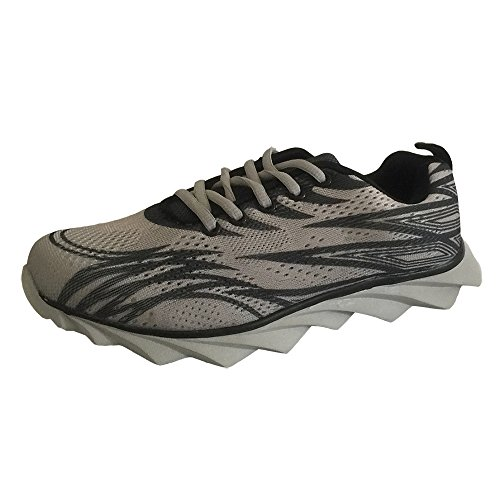 Mens Trainers Gym Walking Trainers Mens Fitness Lightweight Sports Running Shoes(Gray)