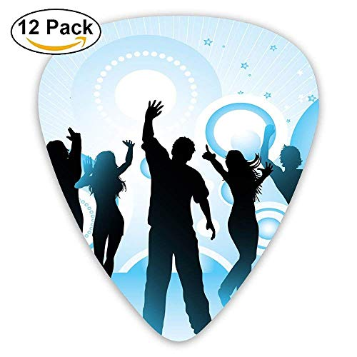 Dance Girls And Boys Classic Guitar Pick (12 Pack) for Electric Guita Bass,0.46/0.73/0.96 Mm Guitar (Halloween Kids Dance)