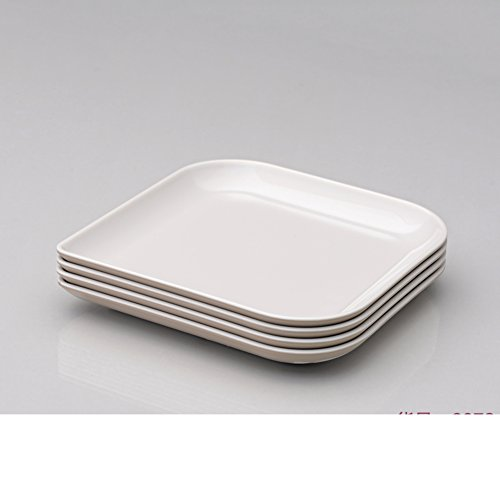 piatto di ceramica imitazione melamina/ ciotola di frutta creativo/ frutta secca/Piattino quadrato gocciolare quattro set-F