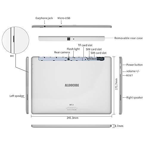 ALLDOCUBE 10.1 Funda Liviana Funda Delgada y Elegante Soporte de Funda en Folio Soporte Protector M5 M5S M5XS M5X Tablet Negro