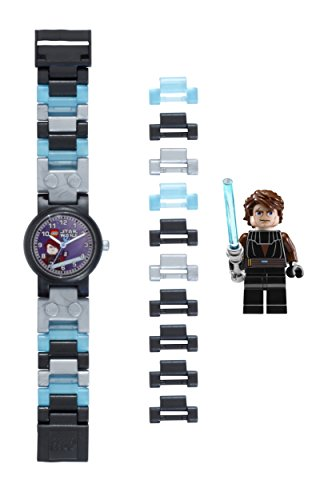 LEGO-Kids-Star-Wars-Plastic-Watch-with-Link-Bracelet-and-Minifigure