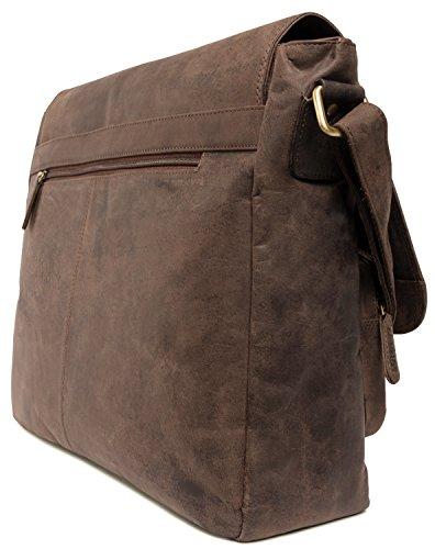 LEABAGS Melbourne borsa a tracolla vintage in vera pelle di bufalo Noce  moscata Noce moscata Nuovo Online Offerta Shop 60a5bbb8c0e