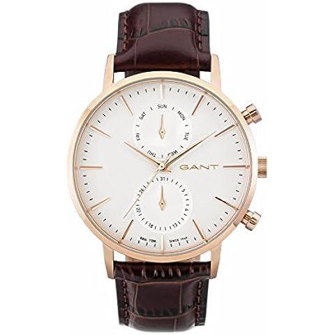 Gant Time orologio da polso da uomo Park Hill day-date al quarzo in pelle W11203