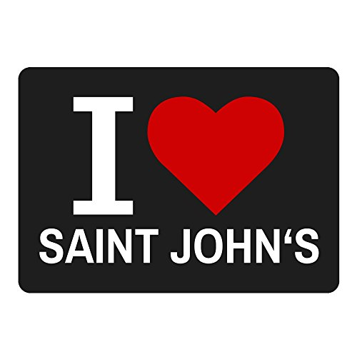 Mousepad Classic I Love Saint John' s nero