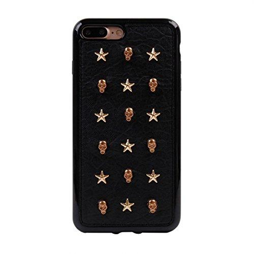 GHC Cases & Covers, Für iPhone 7 Plus Niet-Art-Muster TPU + Metall weicher schützender rückseitiger Abdeckungs-Fall ( SKU : Ip7p1211x ) Ip7p1211j