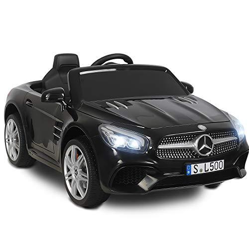SUNCOO 12 V Mercedes-Benz SL500, Enfants Autorisés à Conduire des Voitures Electriques pour Enfants avec Télécommande, Noir