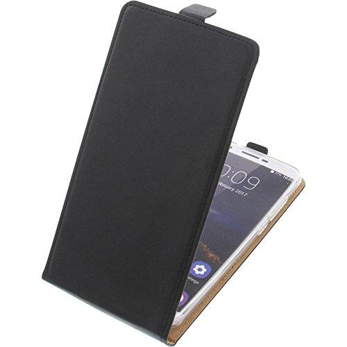 foto-kontor Tasche für Oukitel U16 Max Smartphone Flipstyle Schutz Hülle schwarz