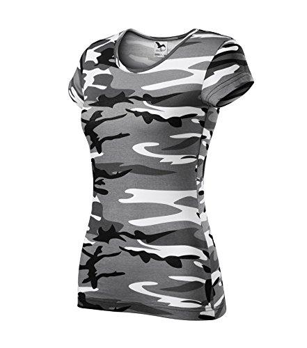 Adler T-Shirt für Damen Ladies Shirt Pure - Größe und Farbe Wählbar- (M, Camouflage Grau) (Baumwolle T-shirt Camouflage)