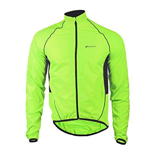 Fitsund Fahrradjacke Herren Radjacke Sommer Langarm MTB Jacket Funktionsjacke M-2XL (XL, Grün 1)
