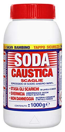 SODA CAUSTICA A SCAGLIE KG.1 Cartomatica Confezione da 12PZ