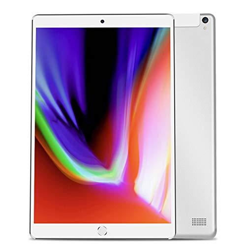 10,1-Zoll-Android-Tablet PC WiFi Tablet Octa-Core 3G Dual-SIM-Karte für 2 Camera 1 + 64GB IPS-Schirm FHD US/EU/AU (Sliver)